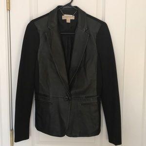 Michael Kors Leather paneled blazer